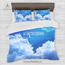 Bedding Set Queen by Galaxy Bedding Night Sky With Stars Bedding Set White Clouds On