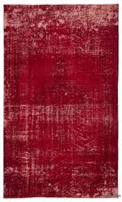 Red Rug Contemporary Rugs Kilim Rugs Overdyed Vintage Rugs Hand Made