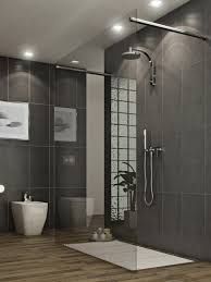 Wood Shower Door by Half Tiled Bathroom Wood Floor Google Search небольшие ванные
