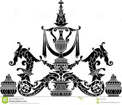 ornate vase stock vector image of elegance insignia 64291699
