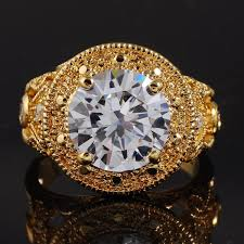 nice big rings images Jenny g jewelry vintage big round cut white sapphire stone 18k jpg