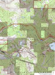 Sierra High Route Map by Hikes Donner N Tahoe Trails