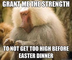 Baboon Meme - strength prayer baboon memes quickmeme