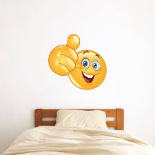custom name wall decals and personalized graphics thumbs up emoji picture of thumbs up emoji