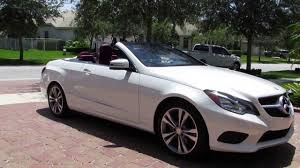 white mercedes convertible 2014 mercedes e350 cabriolet by advanced detailing of south
