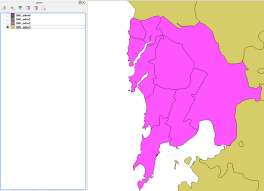 Maharashtra Blank Map by Qgis Shapefile For Mumbai Area Or Section Wise Geographic