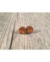 wood stud earrings shopping s deal on stud earrings wooden stud