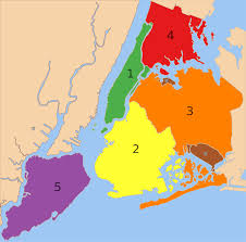map of nyc boroughs of new york city