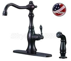 11 oil ubbed bronze antique kitchen faucet w pull out sprayer