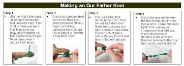 how to make a rosary crafts twine knotted rosary