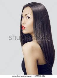 attractive middle aged women dark hair asian woman beauty face closeup portrait stock photo 327818534