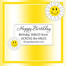 birthday smiles from across the miles free birthday cards