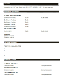 Printable Blank Resume Template Empty Resume Format Resume Format Blank The Brilliant Free