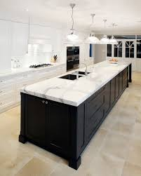 modern black kitchen designs ideas furniture cabinets 2015 kitchens with cabinets and calcutta caesarstone bench tops