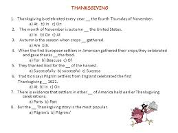 thanksgiving 1 thanksgiving is celebrated every year the