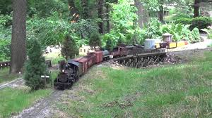 g scale garden railroad open house day youtube