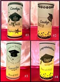 Graduation Party Centerpieces For Tables by Personalized Graduation Luminaries Table Centerpieces Decorations