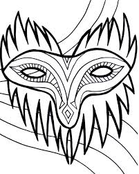 mardi gras mask coloring pages getcoloringpages com