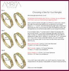 bracelet size images Bangle size chart amrita singh jewelry
