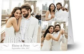 wedding photo thank you cards wedding thank you cards w photos from your big day personalized