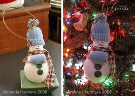 light bulb snowman ornament recycle an light bulb