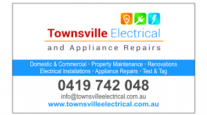 Appliance Business Cards Townsville Electrical U0026 Appliance Repairs Electrician Townsville