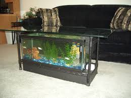 exciting aquarium coffee table design for living room with black