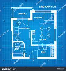 apartment floor plan blueprint top view stock vector 535632028