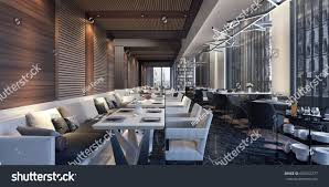 modern concept design restaurant lounge 3d stock illustration