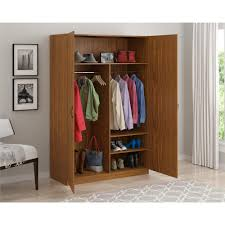 Wardrobe Cabinet With Shelves Ameriwood Wardrobe Storage Closet With Hanging Rod And 2 Shelves