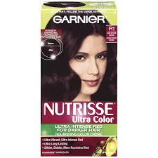Color For Gray Hair Enhancing Amazon Com Garnier Nutrisse Haircolor R1 Dark Intense Auburn