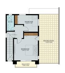 Two Story House Plans With Balconies Php 2014012 Is A Two Story House Plan With 3 Bedrooms 2 Baths And