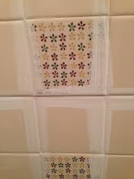 remodelaholic a 170 bathroom makeover with painted tile how to paint tile by the learner observer on remodelaholic com