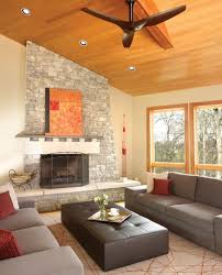 Living Room Ceiling Fans Haiku Cocoa Bamboo Ceiling Fan In The Living Room Contemporary