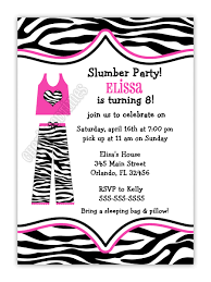 sleepover party invites zebra print pajama slumber birthday party invitation you