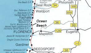 map of oregon lighthouses picnic area oregon coast