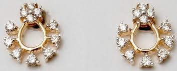 diamond earrings india 14k solid gold diamond earring indian real jewelry supplier and
