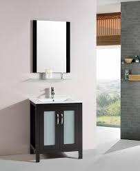 Espresso Bathroom Vanity Eric 28 Inch Modern Freestanding Espresso Bathroom Vanity W