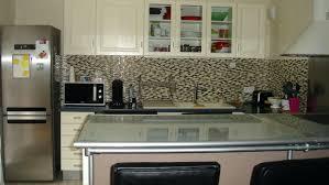 long glass tile backsplash kitchen contemporary ivory kitchen