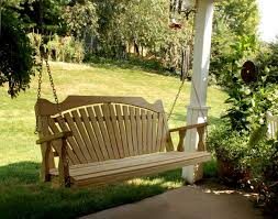 Patio Furniture Swing Set - furniture fancy brown wooden porch swings with iron holder and a