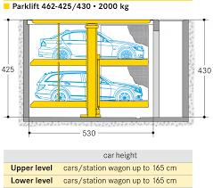 Garage Size 2 Car by Parklift 462 Otto Wöhr Gmbh