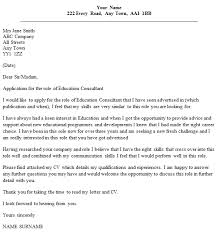 education consultant cover letter example u2013 cover letters and cv