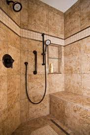 great bathroom shower with bronze hand held shower head and