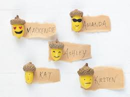 make thanksgiving cards diy acorn emoji thanksgiving place cards make setting the table