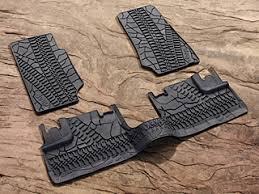 2007 jeep wrangler unlimited accessories mopar jeep front rear slush mats for 4 door 2007 2012 gray