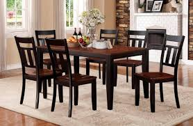 Pc Kirtland Collection - Black dining table with wood top