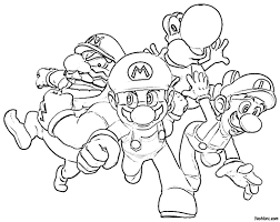100 paper mario coloring pages digital art gallery mario
