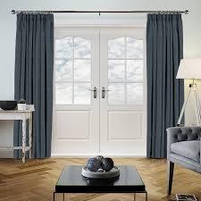 Grey Faux Suede Curtains Faux Suede Denim Curtain Direct Blinds