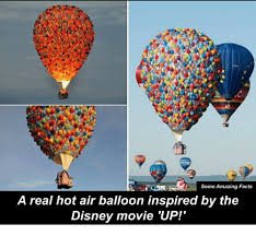 Balloon Memes - some amazing facts a real hot air balloon inspired by the disney