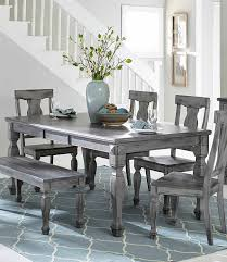 acme wallace dining table weathered blue washed weathered gray dining table homelegance fulbright rectangular with